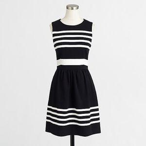 J. Crew Dress Black and White Striped S